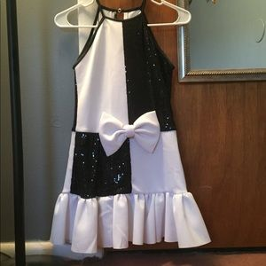 Black and white dress dance costume